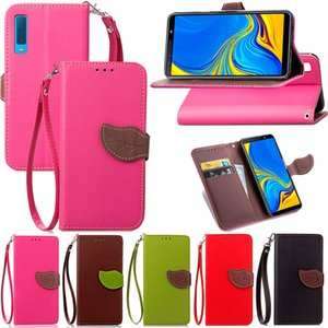Flip For Samsung Galaxy A7 A9 2018 J4 J6 Plus Magnetic Wallet leaf PU leather slot stand Silicone soft phone cover case