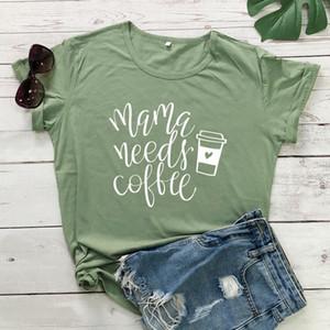 Маме нужен кофе футболка мама Подари жизнь рубашка повседневная лето графический смешные тис топы мода Женская одежда хлопок костюм футболка