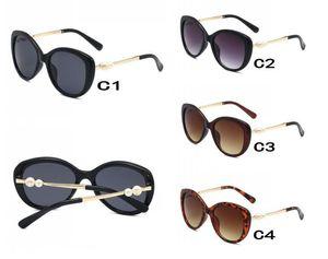 estate UV400 di moda donna in metallo Occhiali da sole signore del vento all'aperto di guida di vetro di Sun Lady perla Occhiali da sole occhiali da sole difesa dei litorali