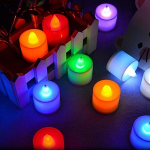 10 PCS LED Candle 6 Colors Flameless Flickering LED Tea Light Battery Candles Wedding Party Holiday Decoration
