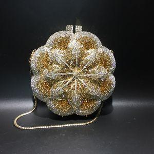 New Dazzling Evening bag Metal Clutches Wedding Dress Bridal Diamond Chains Shoulder Handbags Womens Bags Handbag clutch purse