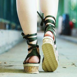 Designer-ndals Women Casual Lace Up Platform Sandals