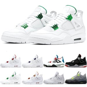 Jumpman 4 Men scarpe da basket 4s Mens Trainers Olimpiadi Rasta Neon Quello che il verde Nakeskin 4 Metallic