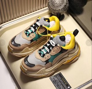 2019 Multi Luxury Triple S Designer Low Old Dad Sneaker Combination Soles Boots Mens Womens Fashion Casual Shoes High Top Quality Size 05552