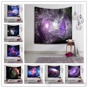 150 * 130CM Sky Galaxy Wandbehang Tapisserie Bedspread Hauptdekoration Strand-Yoga-Matten-Schal-Badetuch Picknick-Decke
