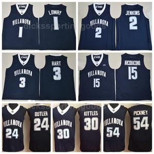 NCAA College Villanova Wildcats Baloncesto 1 Kyle Lowry Jersey 2 Kris Jenkins 3 Josh Hart 15 Ryan Arcidiacono 30 Kerry Kittles 54 Pinckney