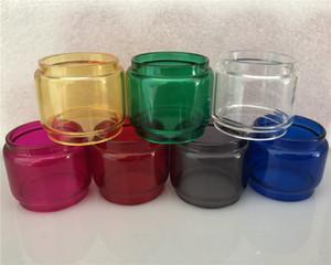 7 tube de verre de rechange en pyrex de graisse pour garçon étendu coloré convexe coloré allongé pour Smok TFV12 grand bébé prince Resa TFV8 réservoir de 5 ml 3 ml