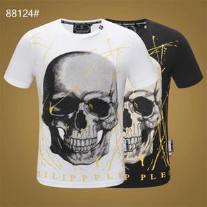 2019 imprimer Philip couleur unie T-shirt mode loisirs fitness cool O collier hommes portent T-shirt été vêtements pour hommes à manches courtes M-3XL # 2007