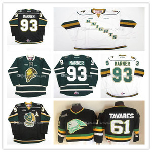 Pas cher Vintage OHL London Knights Jersey 93 Mitch Marner 18 Liam Foudy 11 John Carlson 61 John Tavares 16 Max Domi broderie sur mesure chandails