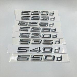 3D наклейки для Bmw F10 F11 E60 E61 520d 523d 525d 528d 530d 535d 540D 550d Эмблемы Задняя загрузка багажника Letters