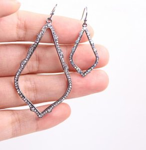 6cm Big Size AB Water Drop Sophee Crystal Earrings For Lady