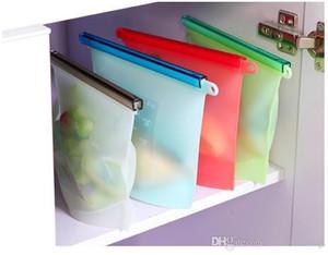 حقائب سيليكون حفظ الطعام الرئيسية ثلاجة الطعام الشراب ختم تخزين الحاويات 4 ألوان المفيد أدوات المطبخ