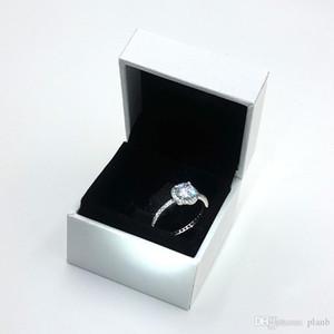 2020 / новый Real 925 стерлингового серебра CZ бриллиантовое кольцо с логотипом и первоначально коробка Fit Пандора стиль Свадебные ювелирные изделия Обручальное кольцо для женщин