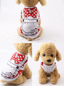 2019 Marca de Moda de Nova Cão roupas de Designer de Impressão Dos Desenhos Animados Cão Vestuário de Alta Qualidade Bonito Do Gato E Do Cão roupas 123