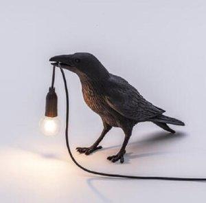 2020 Nova Seletti abajur Pássaro Art Deco LED Light Home Decor Pássaro Lâmpada de mesa Designer Pássaro LED Room Móveis de estar Quarto de cabeceira