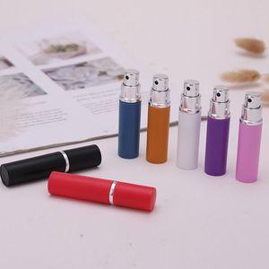 5ml 7color vazio Spray de Perfume garrafa de alumínio anodizado Compact Spray de perfume Atomizador Fragrance vidro Frascos