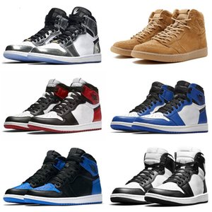 classic Jumpman 1 high top UNC Metallic Red Kids basketball shoes sneakers GS bred banned Top 3 black reverse shattered Black Toe Chicago
