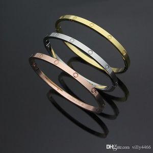 2019 New brand name Fashion Hot titanium steel Love Bracelet&bangle narrow love Bangle Women Bracelet Diamond opening Bangles with dust bag