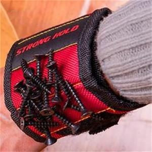Super Forte Pulseira Ímã Forte Força Magnética Alça de pulso Portátil Vermelho Preto Carpintaria Workmanship Picker Nova Chegada 14 8dy L1
