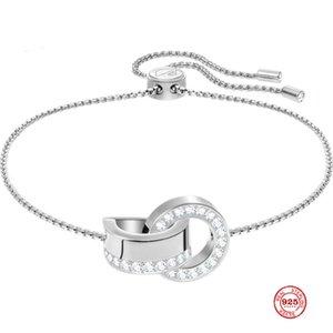Мода Шарм Pure 925 Silver Оригинал Копия, Переплетение Современный стиль Свежий и элегантный браслет Женщина Luxury подарок ювелирных изделий