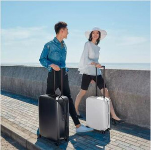 Original Xiaomi youpin 90 Fun 20inch Travel Suitcase 33L Polyester Password Spinner Wheel Carry On Luggage Case 3022349Z3