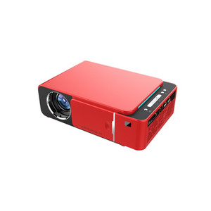 T6 Projector LED HD 1280x720p LCD USB Mini Projetores Suporte SD HDMI para Home Cinema VGA Projector