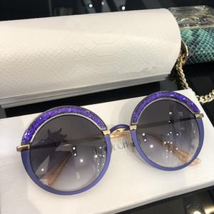 GOTHA Gafas de sol con montura de acetato de oro con marco de piña Gafas de sol con protección UV populares Estilo de moda de verano de calidad superior