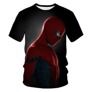 2020 new popular spider man co branded venom 3D summer shirt t-shirt men's short sleeve Halloween role play costume