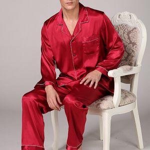 Erkekler Leke İpek Pajama Erkek Sleepwears Erkekler Seksi Yumuşak Homme Rahat Saten Gecelik Casual Lounge Pijama Gecelik Ev