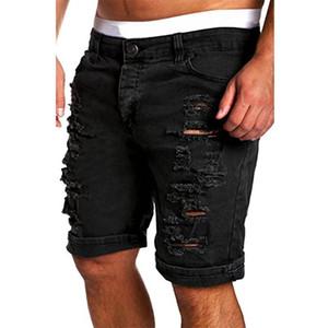 Hemiks Katı Casual Erkekler Jeans Kısa Pantolon Yaz Pamuk Fermuar Tut Jeans Homme Moda Streetwear Skinny Men Blend