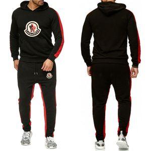Marque Survêtement Mode Hommes Vêtements de sport ensembles deux pièces Tous coton épais à capuche en laine + Pantalon de sport NO.1P Suit