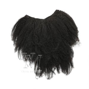 4A 4B 4C Kinky Straight 120g Natural Color Full Cuticle Aligned Afro Kinky Curly Clip In Hair Virgin Remy Human Hair Extensions