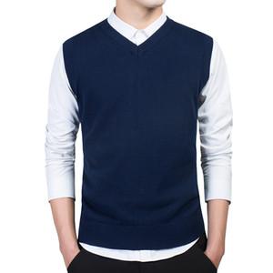 Varsanol Clothing Trui Men Herfst V-neck Slender Vest Truien Mouwlless men Warm Trui Katoen Casual M-3xl