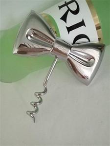 Abridores de vino Tie Bow Metal Color Aleación Revestimiento de cromo Abridor portátil Regalos de boda Herramientas de cocina 2 5bc E1