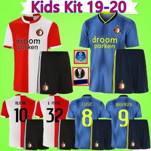 Kit de niños # 32 V PERSIE 19 camisetas de fútbol Feyenoord 20 Berghuis 2019 2020 chicos Vilhena establecen camisetas de los niños LARSSON maillot traje KOKCU