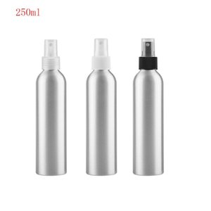 20pcs lot 250ml Empty Silver Aluminum Metal Perfume Bottles With Spray Empty Cosmetic Containers Wholesale