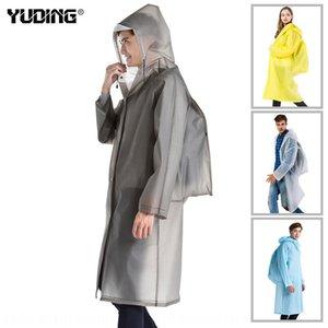 Raincoat outdoor Shoulder Bag shoulder bag adult men's and women's backpack conjoined eva transparent raincoat
