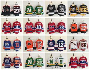 Hombres Vintage Ron Hextall Bobby Clarke Wayne Gretzky Mario Lemieux Teemu Selanne Filadelfia Flyers Jets de Winnipeg LA Kings Kings King Jersey de hockey