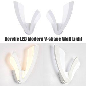 Acrylic LED Wall Lamp Corridor Light 8W 110-220V Modern Home Sconce Lamp Hotel Living Room Bedroom Bedside Decoration Fixture
