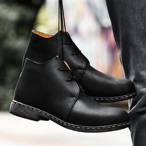 Big size 38-47 Ankle Boots for Men Business Chukka Mens Boots High Top Casual Shoes Outdoor Leather Mens Winter Shoes Male w5