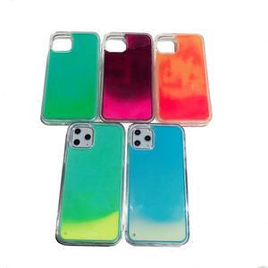 Caja del teléfono para el iphone 11 Pro 5.8inch brillan en la oscuridad de la cubierta para el iPhone XS Max XR X 8 7 más líquido luminoso de neón de arena arena movediza