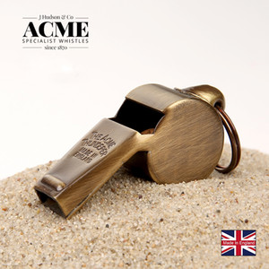 ACME 59.5 polished brass fashion trend pendant whistle coach referee laser lettering outdoor survival cheerleading whistle