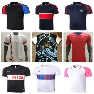 20 21 Frances París Mbappé hombres del polo la camisa del fútbol 2020 2021 traje de entrenamiento Jersey Verratti SARABIA T SILVA MARIA DI Marquinhos Fútbol