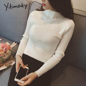 yitimoky свитер мода 2020 женщин вскользь мягкая осень зима вязаный свитер тонкий женщин свитера и пуловеры