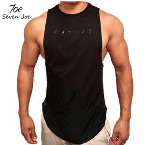 Stringer, gimnasio de musculación ropa sin mangas de los hombres sin mangas singlete aptitud camisa de algodón del chaleco del músculo sólido Unders