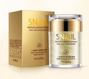 One Spring High Quality Snail Facial Cream Deep Hydrating Face Cream Moisturizer Nourishing Repair Acne Treatment