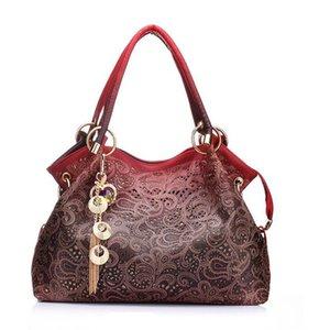 Marke Luxus-Designer-Frauen Handtaschen weibliche PU-Leder höhlen heraus Troddel-Stadtstreicherin messegner Umhängetasche bolsa feminina