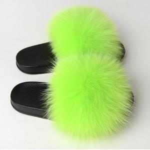 Donne soffice pelliccia piatto Pantofole Peluche Furry colore della caramella scorrevoli delle signore Infradito moda femminile pattini casuali più il formato