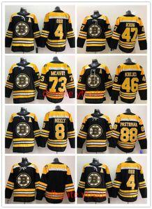 2019 보스톤 Bruins Men 's 저지 4 Bobby Orr 8 Cam Neely 46 David Krejci Torey Krug 찰리 Mcavoy David Pastrnak ALL 스티치 하키 유니폼