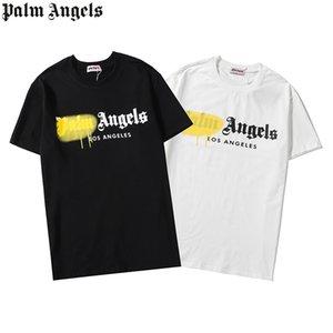 2020 New DesignerPalmeFrühlingEngel Sommer Männer Frauen T-Shirt aus 100% Baumwolle T-Shirt luxuriöser Männer Frauen Shirt gedruckt Hemd 06